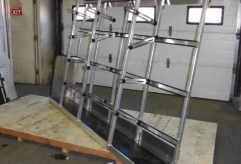 Interior van glass rack